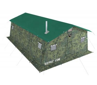 Армейская палатка БЕРЕГ- 15М1 4,1м х 6,8м