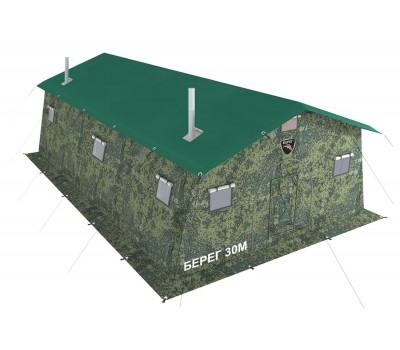 Армейская палатка БЕРЕГ- 30М1 6,75м х 6м (однослойная)