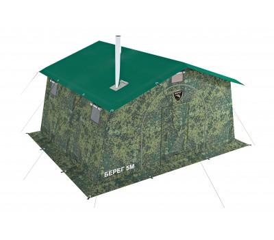 Армейская палатка БЕРЕГ- 5М2 4,1 м х 3,5 м (двухслойная)