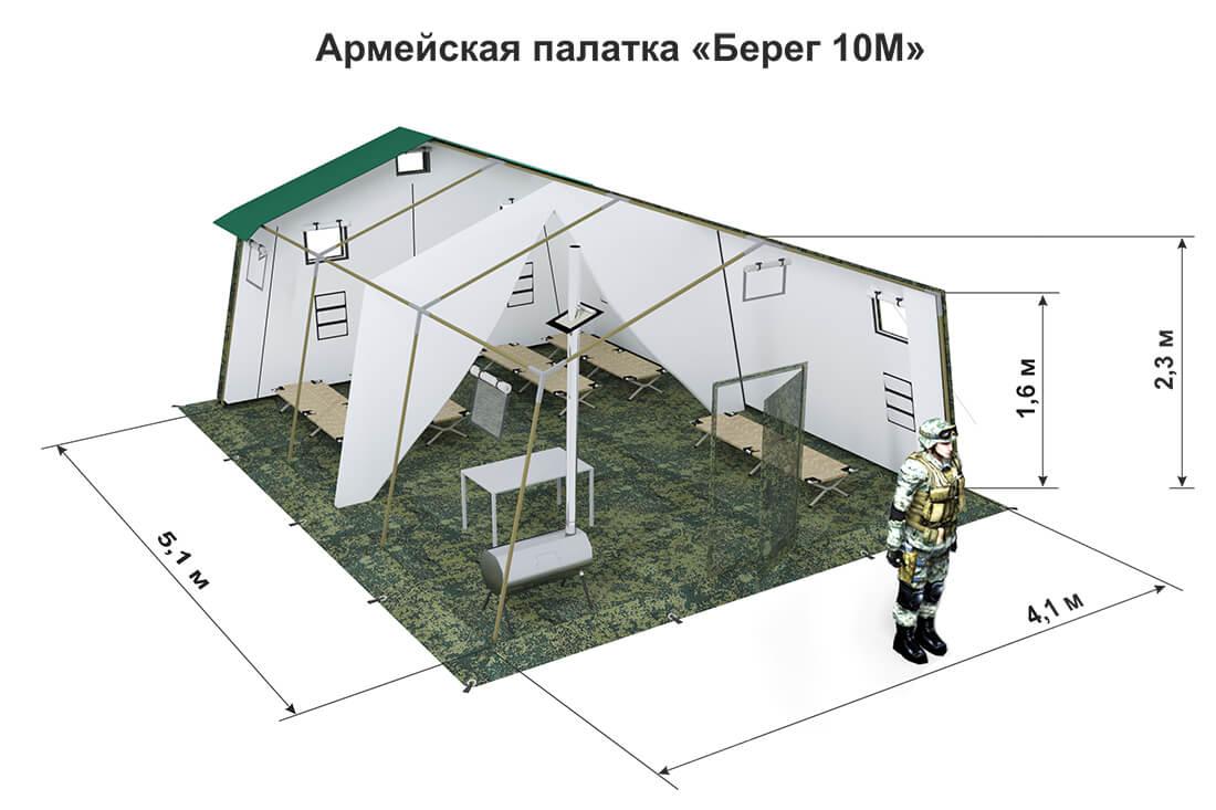 Схема палатки 10М2