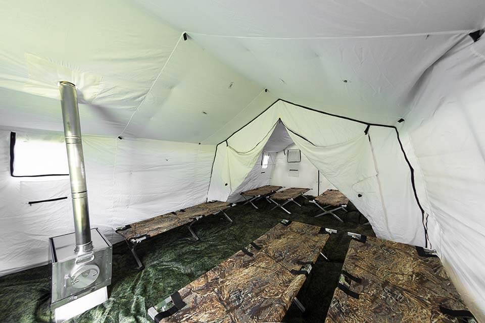 Перегородка в палатке 15М2