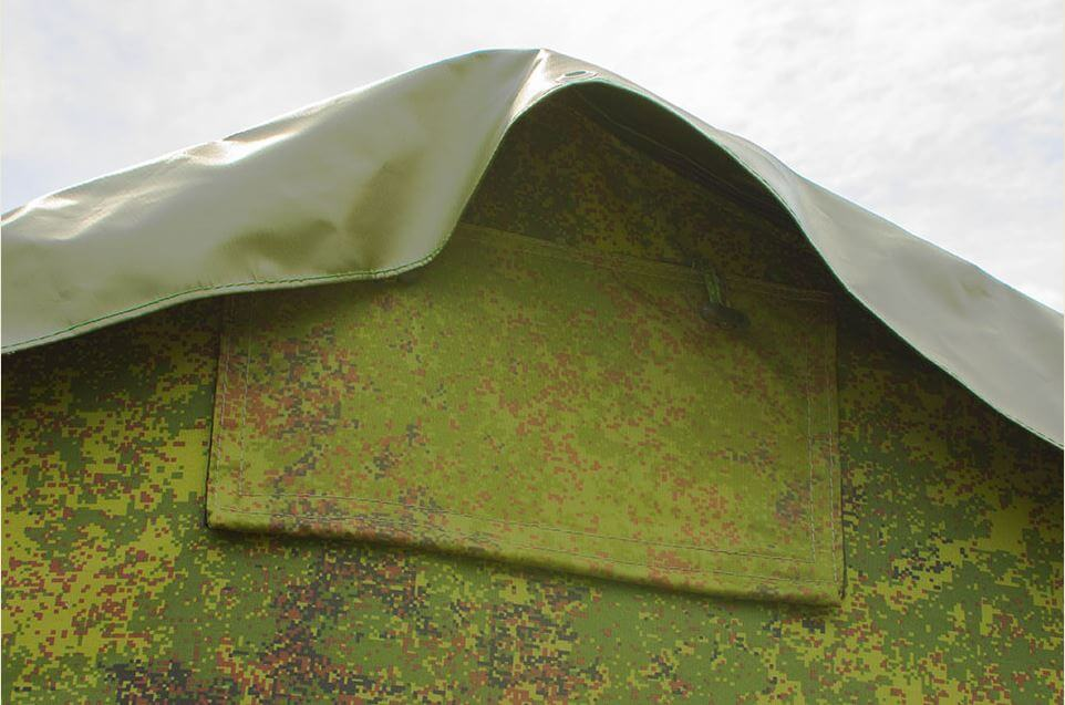 Вентиляционное окошко армейской палатки
