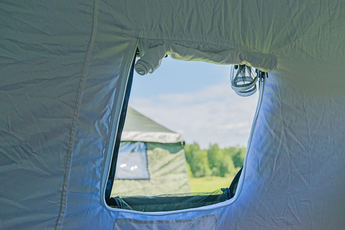 Окно палатки Берег 5М2