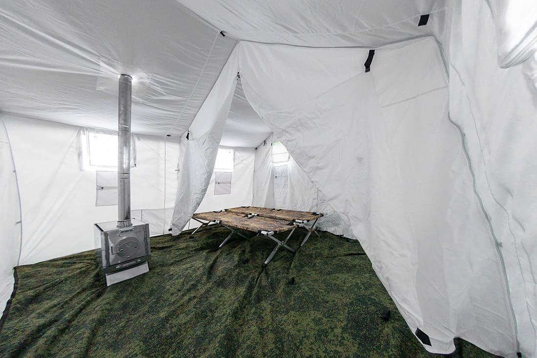 Внутренний тент к палатке Берег 5М и армейская печь