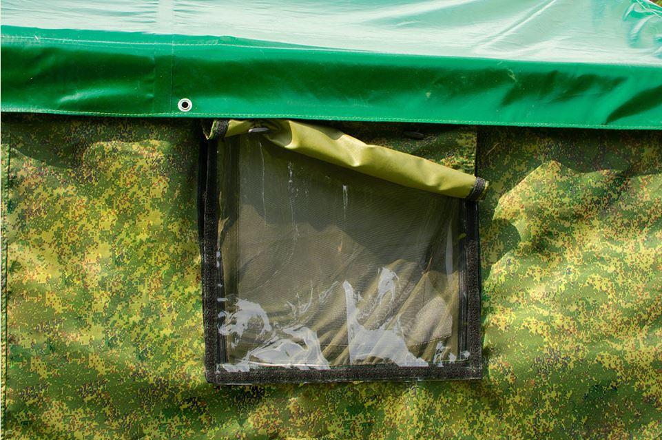 Окно палатки снаружи
