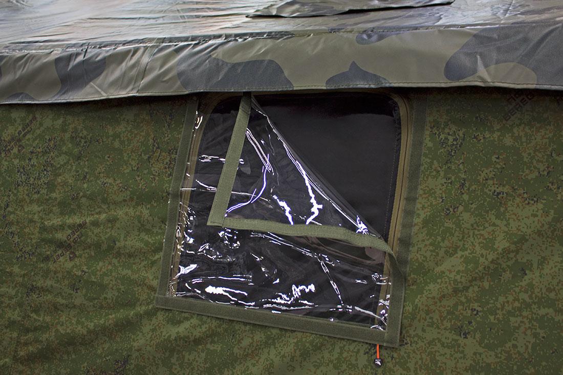 Многофункциональные окна в палатке 4М2