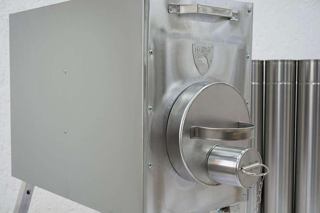 Съемная топочная дверца печи Банная