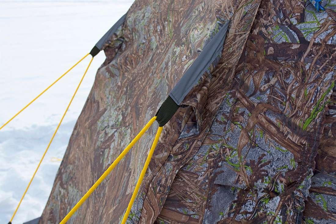 Оттяжки на тенте палатки