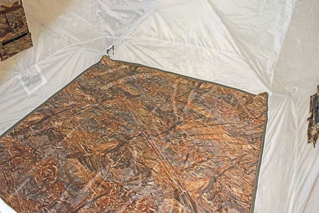 съемный пол в зимней палатке куб
