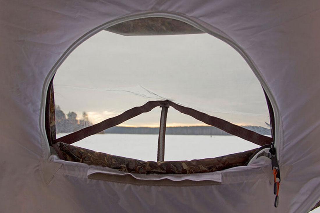 окно для палатки