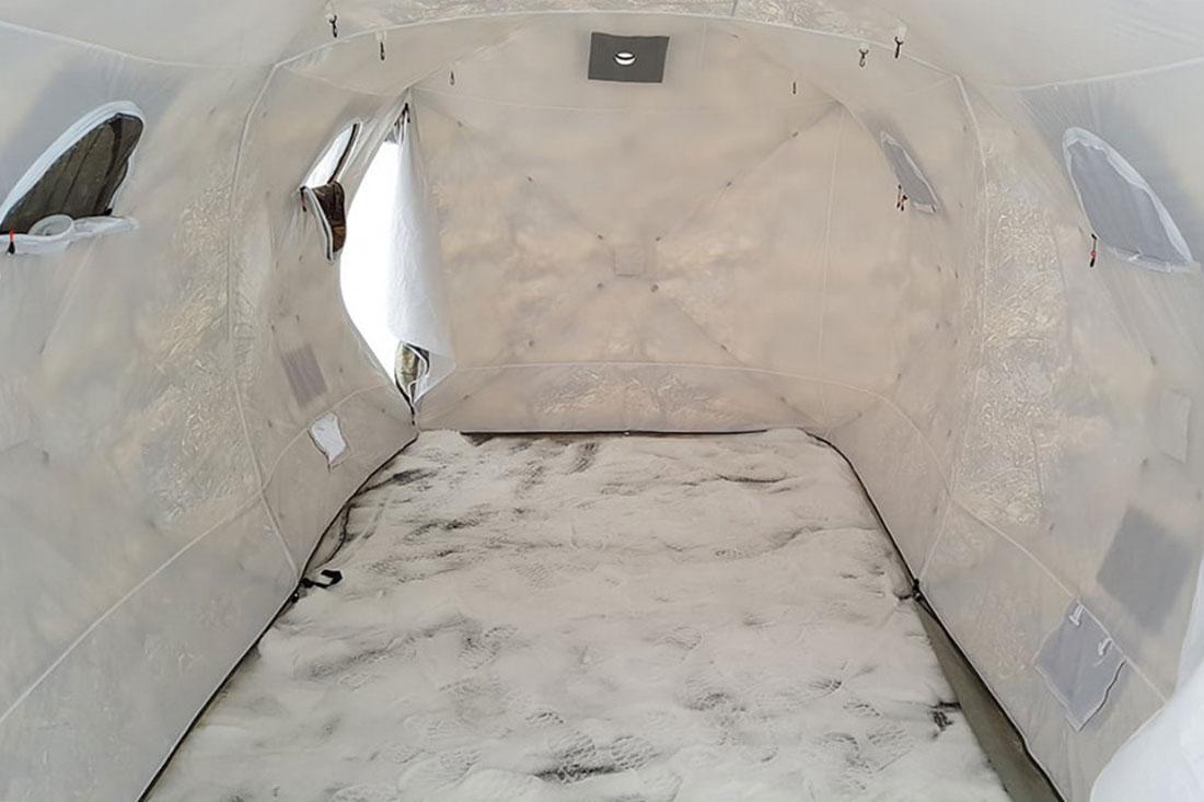установка перегородки в палатку кубоид