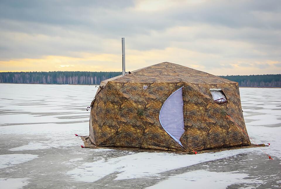 зимняя палатка куб гексагон берег