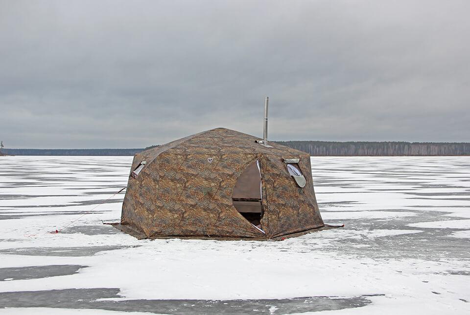 палатка куб берег