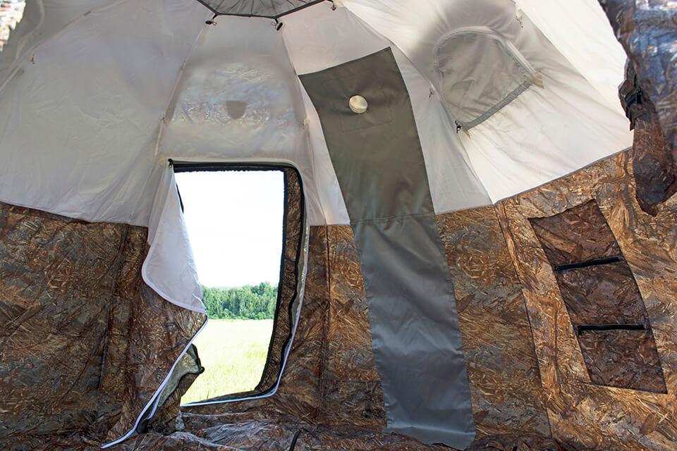 Палатка УП-2 внутри