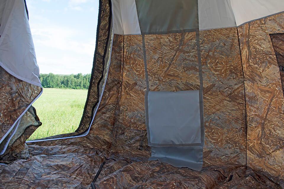 место для установки печи в палатке берег
