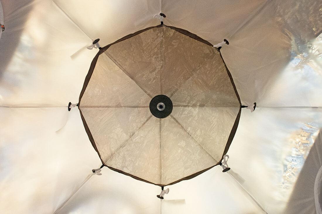 Полочка-сетка под куполом УП-5