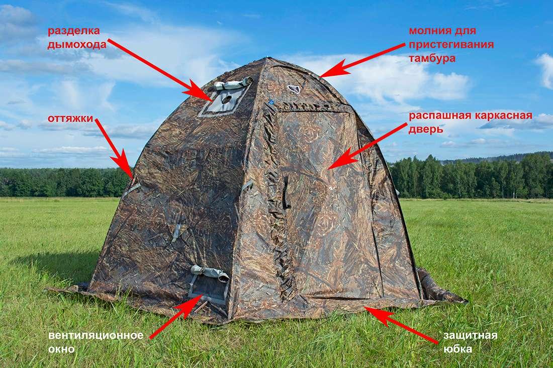 Схема палатки УП-2 мини