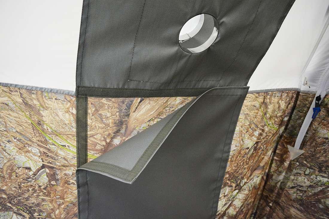 Разделка дымохода изнутри палатки УП5 люкс
