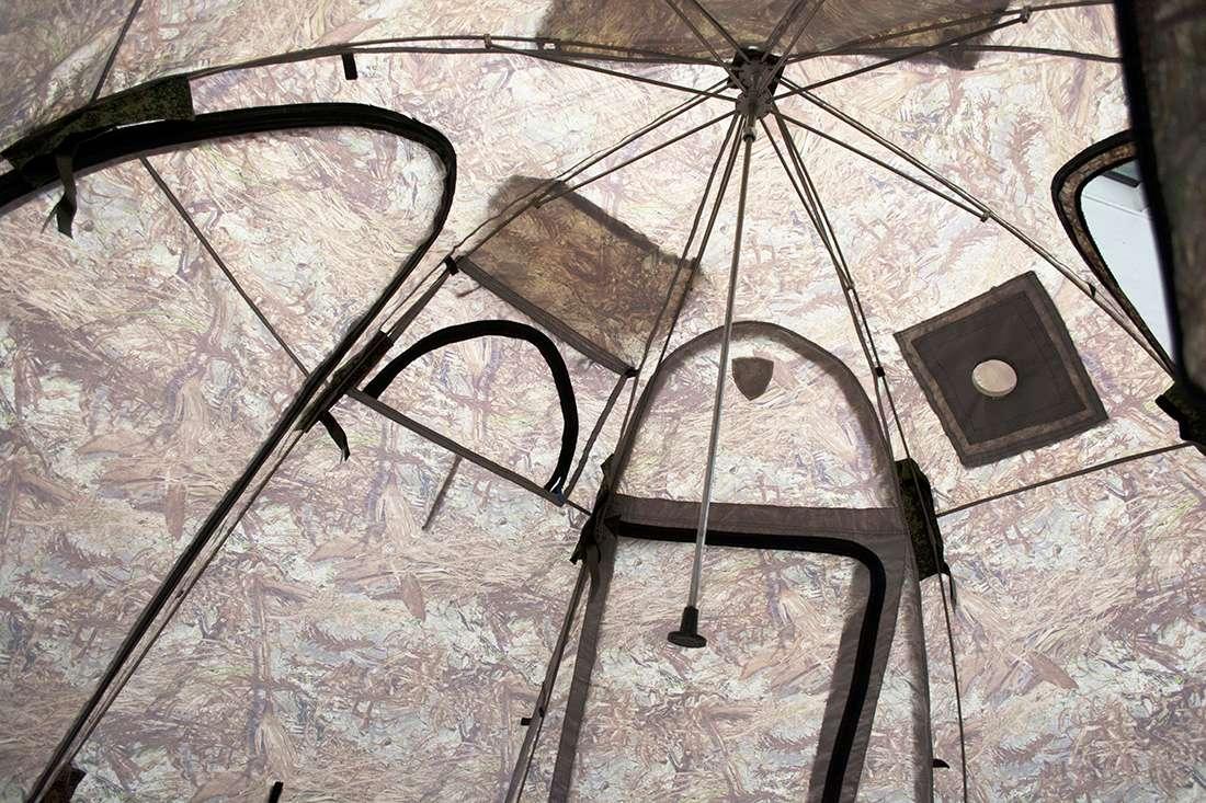 Палатка УП-4 изнутри